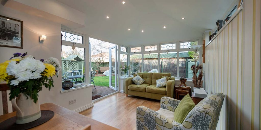 Solid Roof Conservatory Internal Image With Garden View