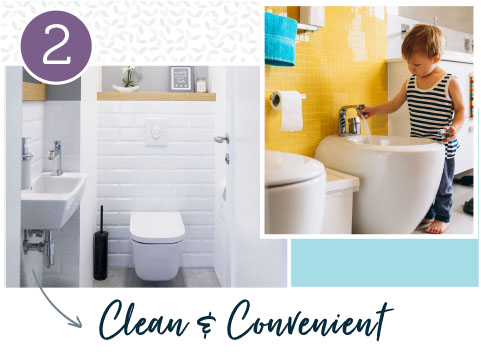 Clean and convenient